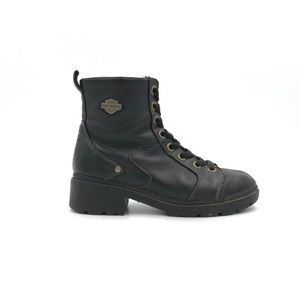 Harley Davidson Lace Up Boots with Side Zippers